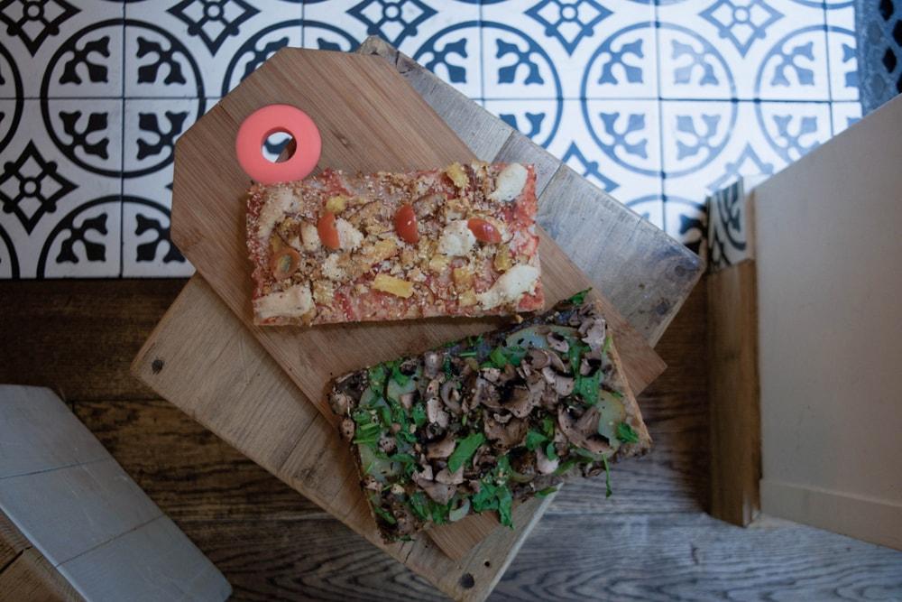 hank pizza vegan et sans gluten