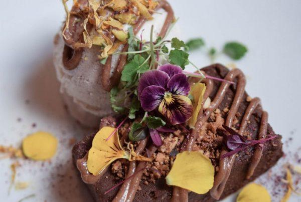 wild food cafe vegan gluten free brownie