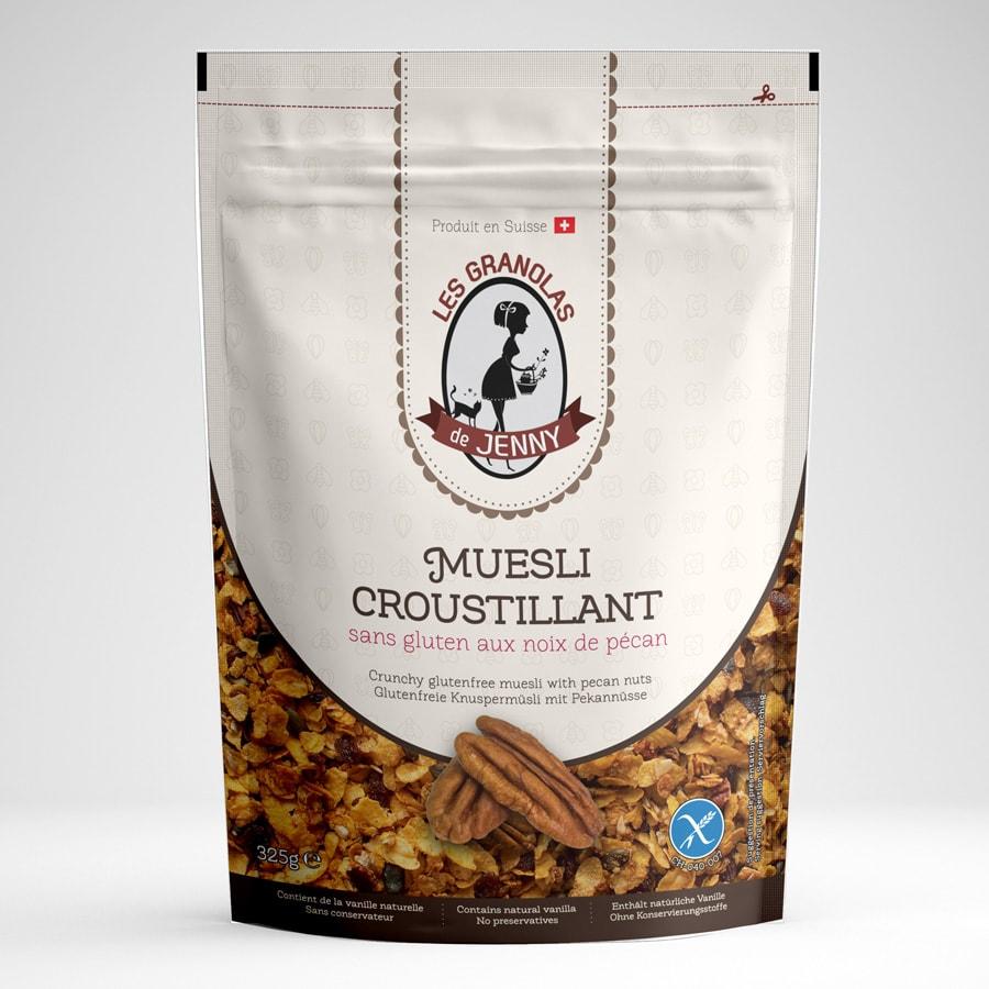 granola sans gluten à la noix de pecan