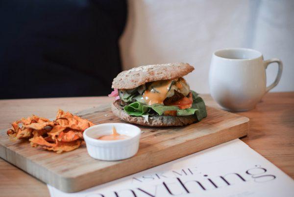simpleraw burger vegan et sans gluten