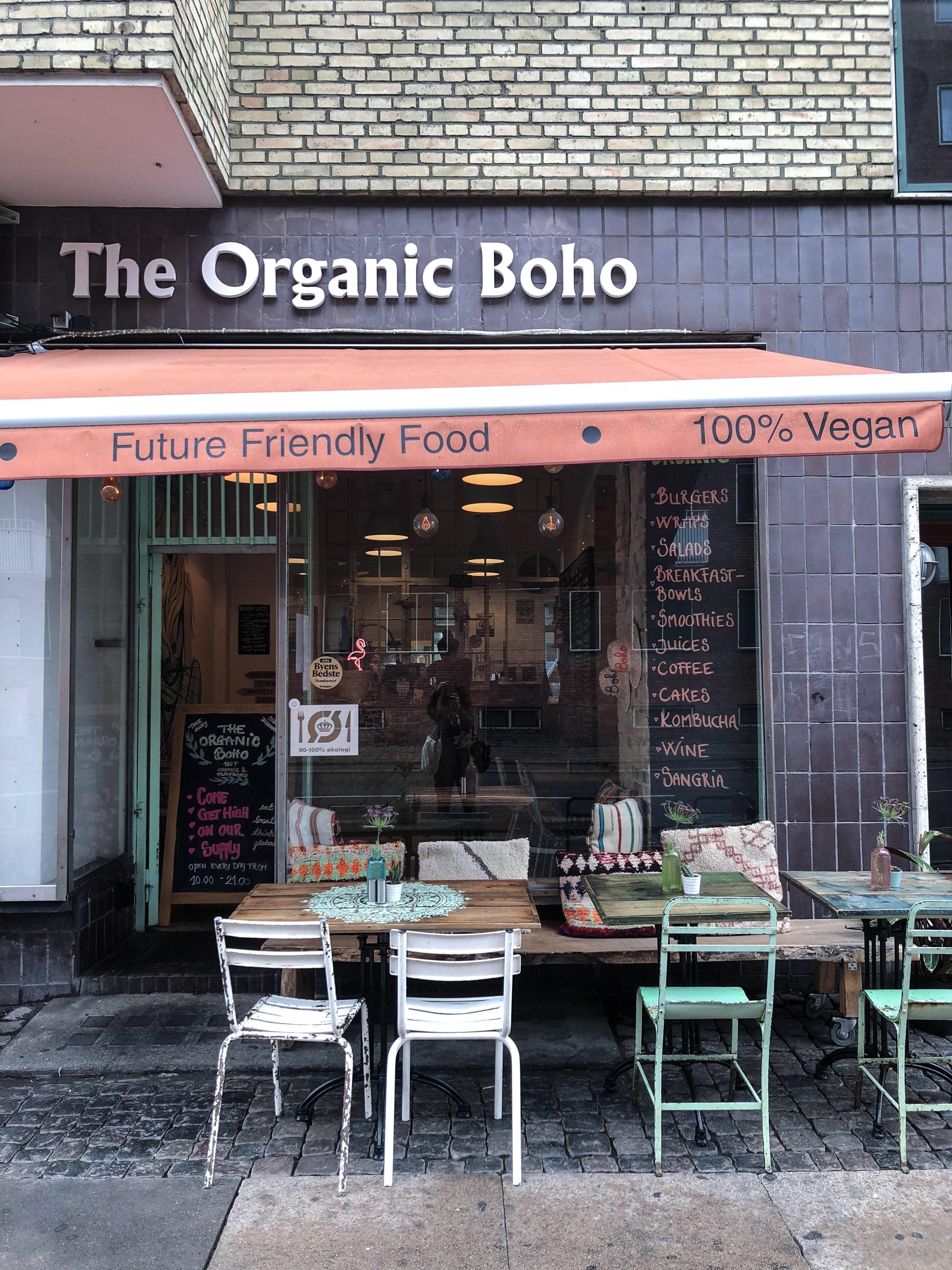 the organic boho café vegan
