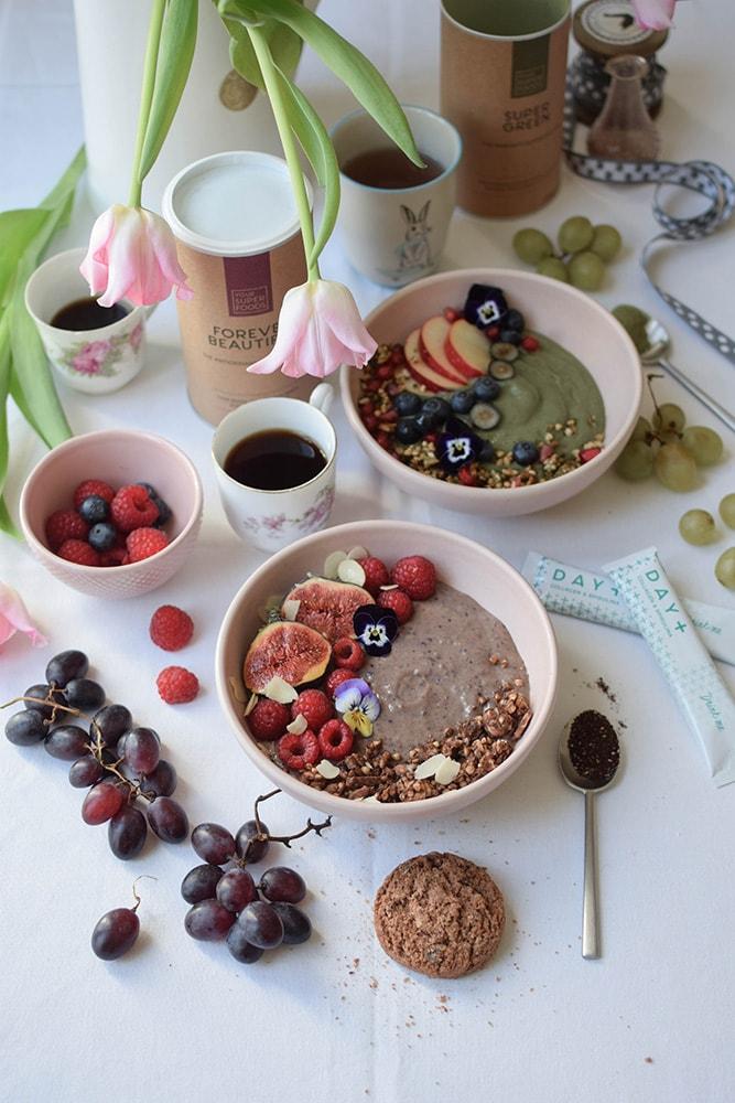 your super food green et acai bowl vegan sans gluten