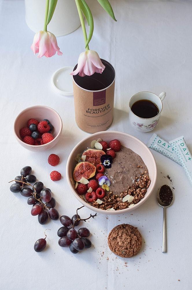 your super food délicieux healthy acai bowl