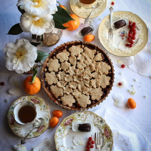 tarte sarrasin orange marron sans gluten