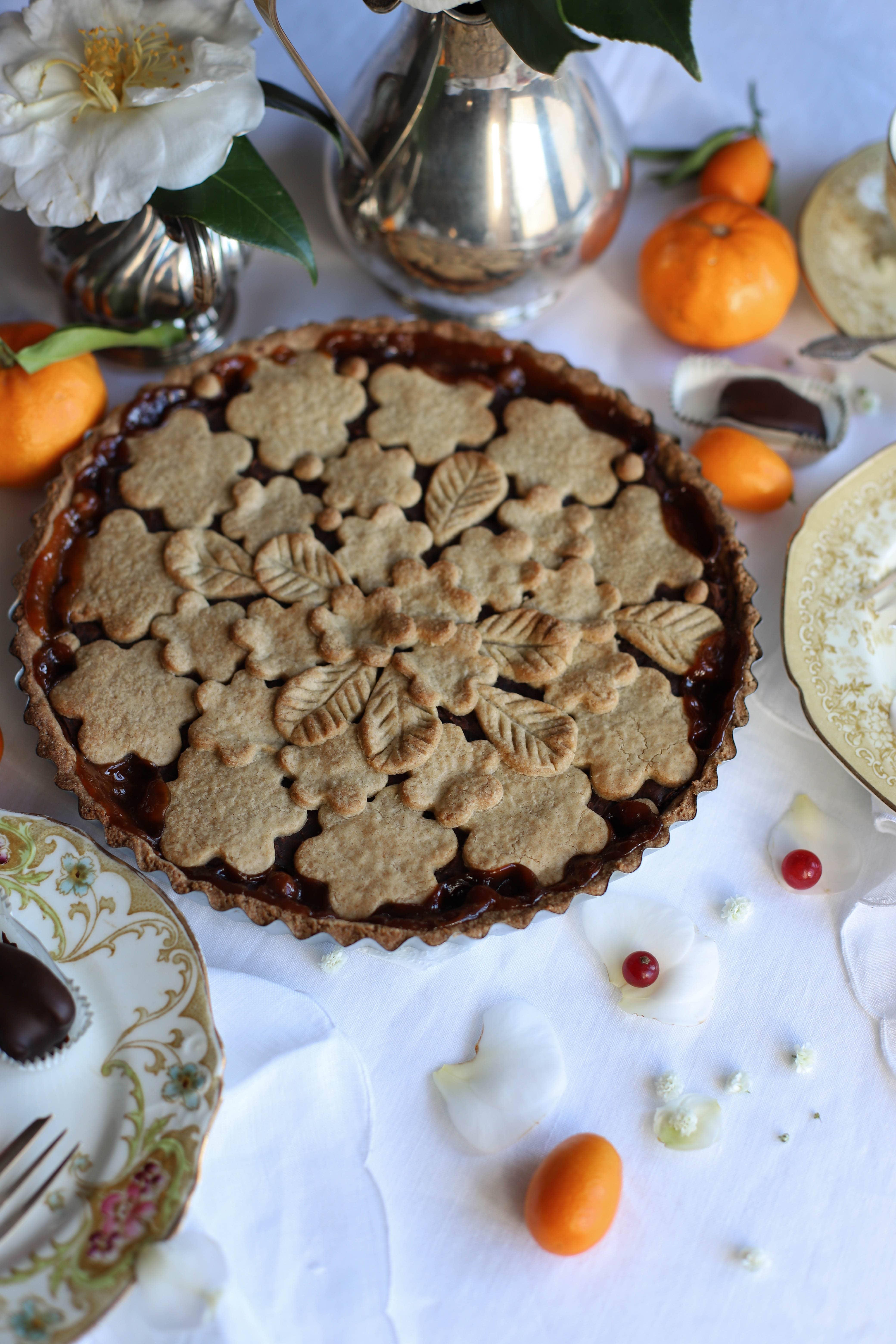 tarte sarrasin orange marrons sans gluten