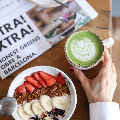 honest greens coconut yoghurt avec granola paleo