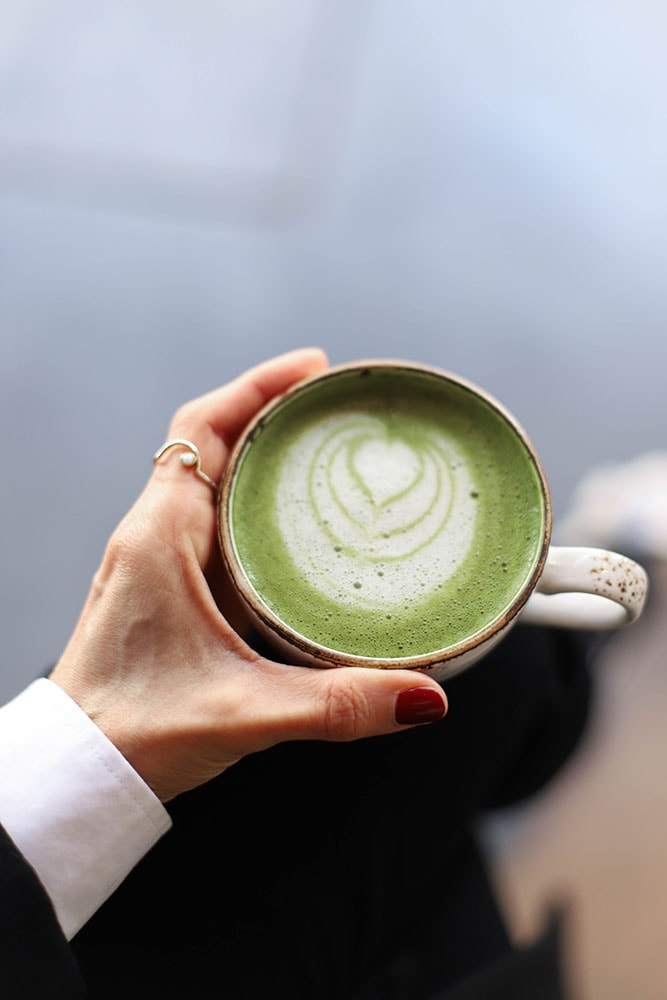 honest greens matcha latte