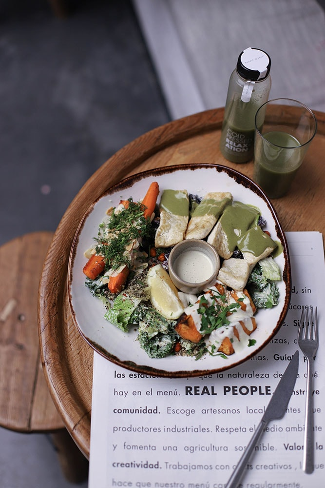 honest greens kale tofu bowl