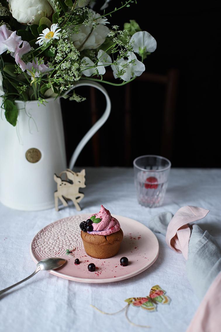 cupcake aux myrtilles recette sans gluten et sans lactose